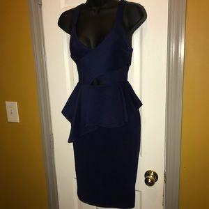 Peplum Midi Dress